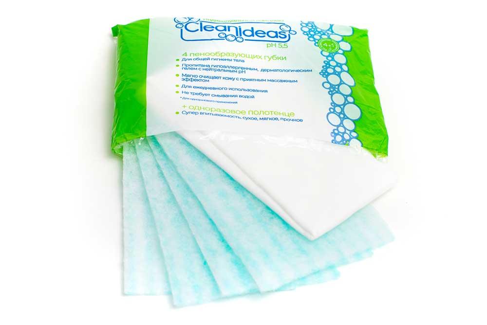 Клин айдиас индивидуальный комплект МВ62 (4 губки + 1 однораз. полотенце)