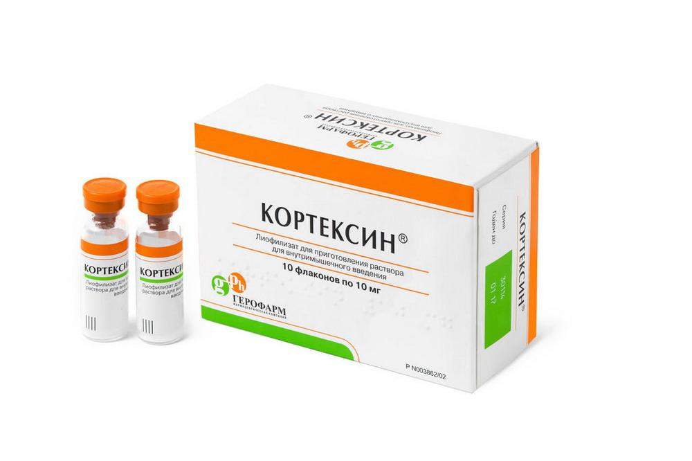 Кортексин лиоф в/м фл. 10мг №10