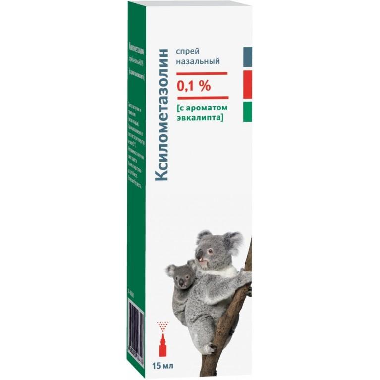 Ксилометазолин спрей наз. 0,1% Эвкалипт 15мл
