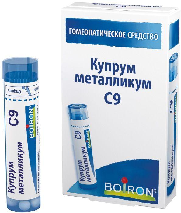 Купрум металликум C9 гранулы гомеопатич. 4г