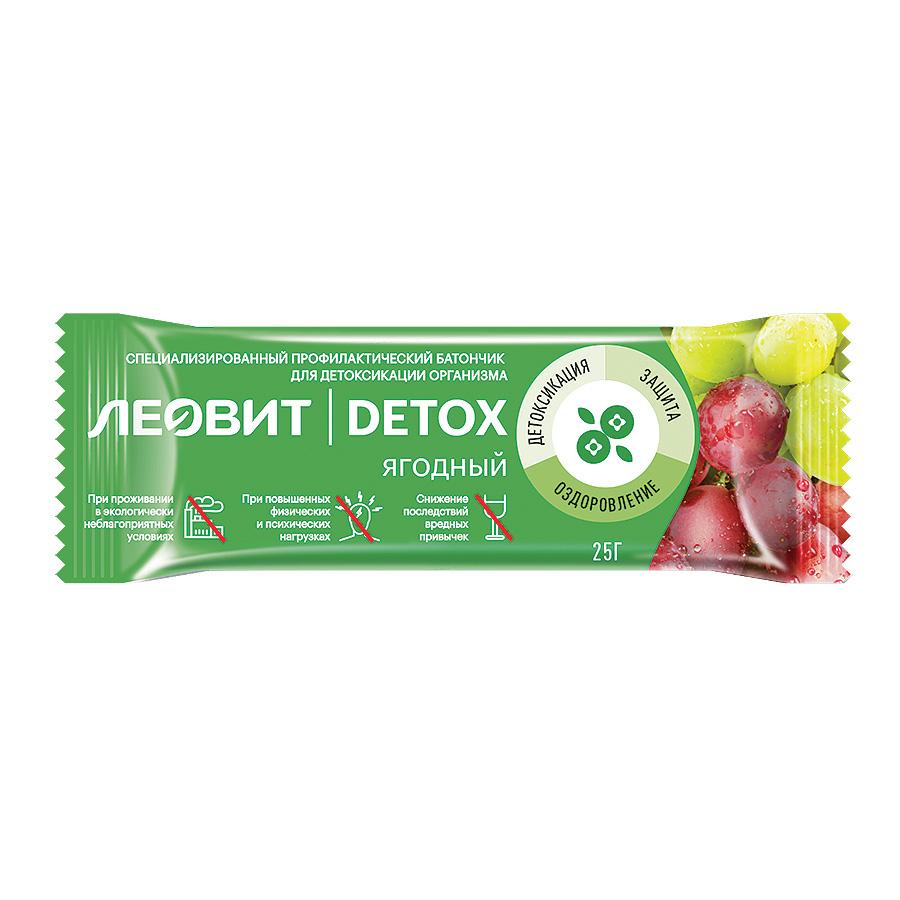 Леовит Батончик Детокс ягодный 25г