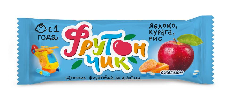 Леовит батончик Фрутончик яблоко/курага/рис 20г