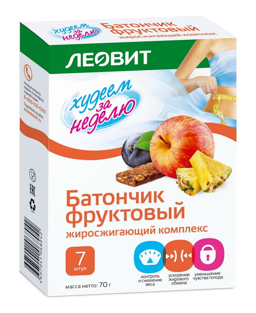 Леовит БиоСлимика батончик фруктовый Жиросжигающий комплекс №7