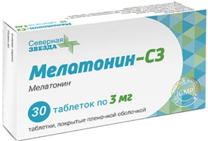 Мелатонин-СЗ таб. п/о 3мг №30