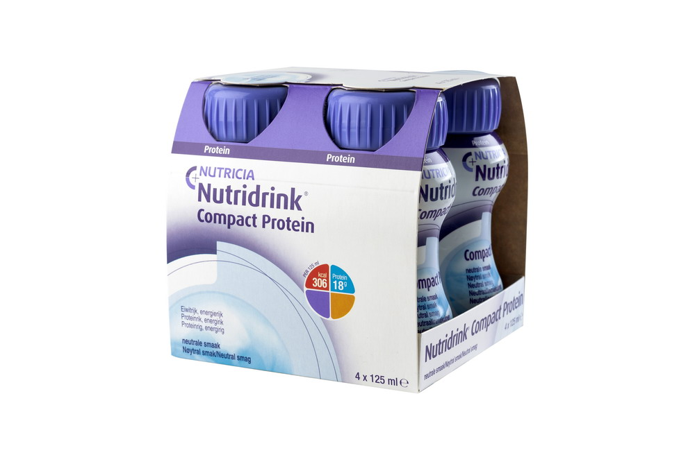 Нутридринк Компакт Протеин смесь д/энтер. питания Нейтральный вкус 125мл №4