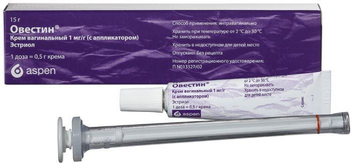 Овестин крем ваг. 1мг/г 15г