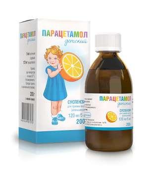 Парацетамол сусп. д/детей д/приема внутрь 2,4% Апельсин 200г