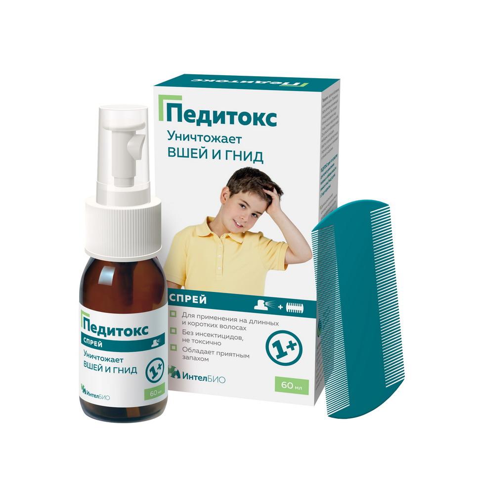 Педитокс Спрей средство педикулицидное 60мл