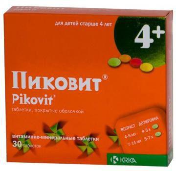 Пиковит таб. п/о (4+) №30