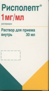 Рисполепт р-р д/приема внутрь фл. 1мг/мл 30мл