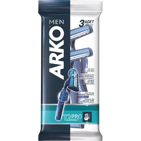 Станок д/бритья Арко T2 PRO 2лезв (3шт/уп).500813(Эвиап)