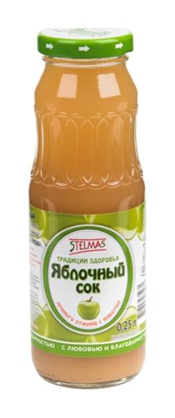 Стэлмас Яблочный с мякотью 0.25л