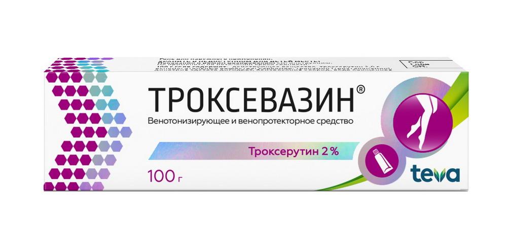 Троксевазин гель для наружн. прим. 2% туба 100г
