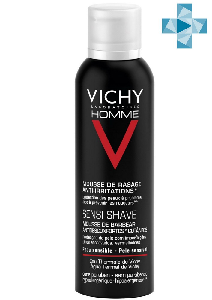 Виши ОМ пена д/бритья против раздражения кожи 200мл