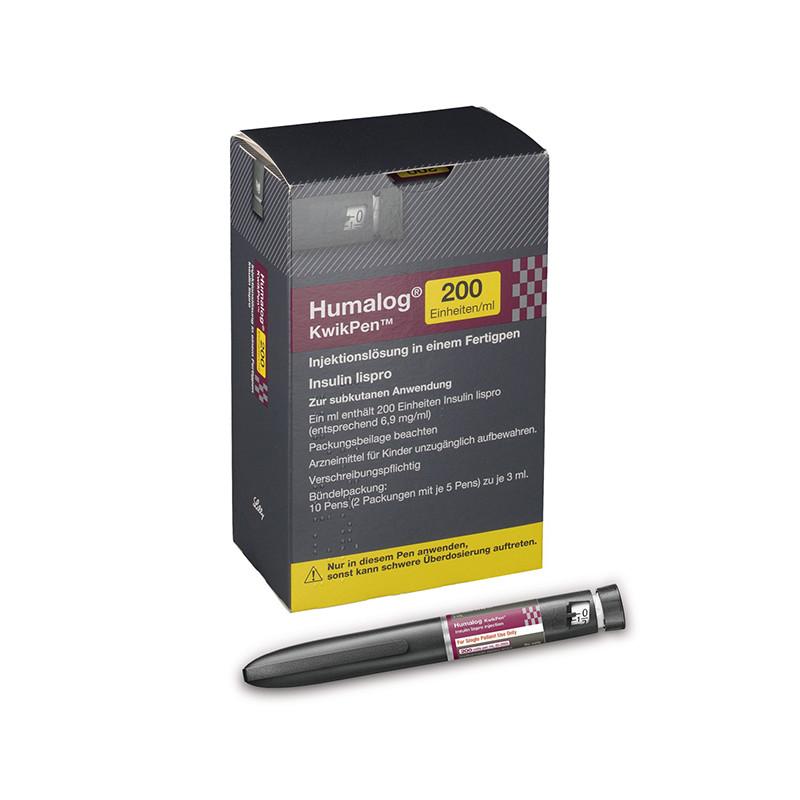 Хумалог р-р для в/в, п/к введ. 200МЕ/мл 3мл картридж в шприц-ручке КвикПен