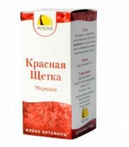 Красная щетка Мерцана капли внутр. 50мл