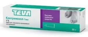Клотримазол-Тева крем 1% 30г