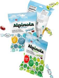 Альпинола леденцы с ментолом, эфирными маслами трав, Вит.С б/сахара 75г