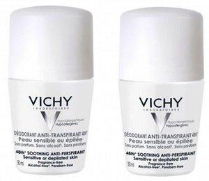 Виши Дуопак дезодорант для чувствительной кожи 48ч 50мл (скидка -50% на второй)