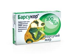 Барсукор Барсучий жир капс. 200мг №100