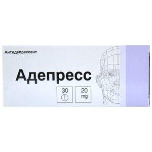 Адепресс таб. п/о 20мг №30