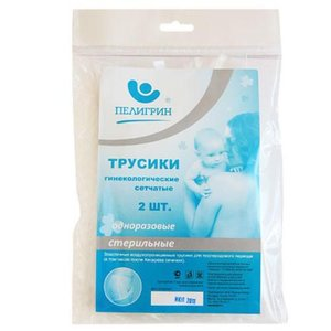 Пелигрин П2С Трусики гинекол. сетчатые однораз. р-р M 2шт, белые