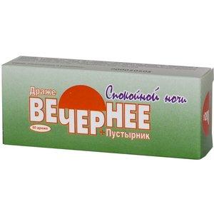 Вечернее плюс (Валериана+Пустырник) др. 160мг №60