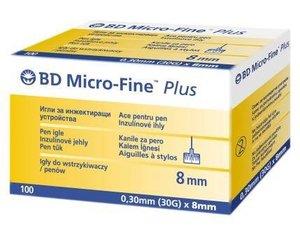 Микрофайн Плюс иглы 30G (0.3х8мм) №100